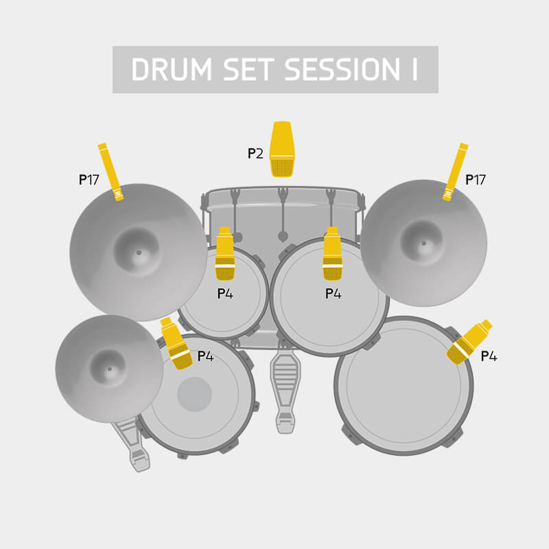 AKG Drum Set Session I Diagram alt